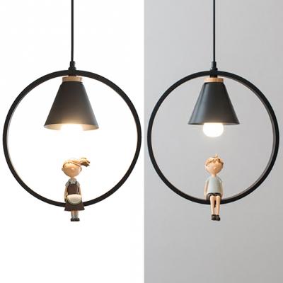 Metal Cone Shade Hanging Light 1 Light Modern Pendant Lamp with .