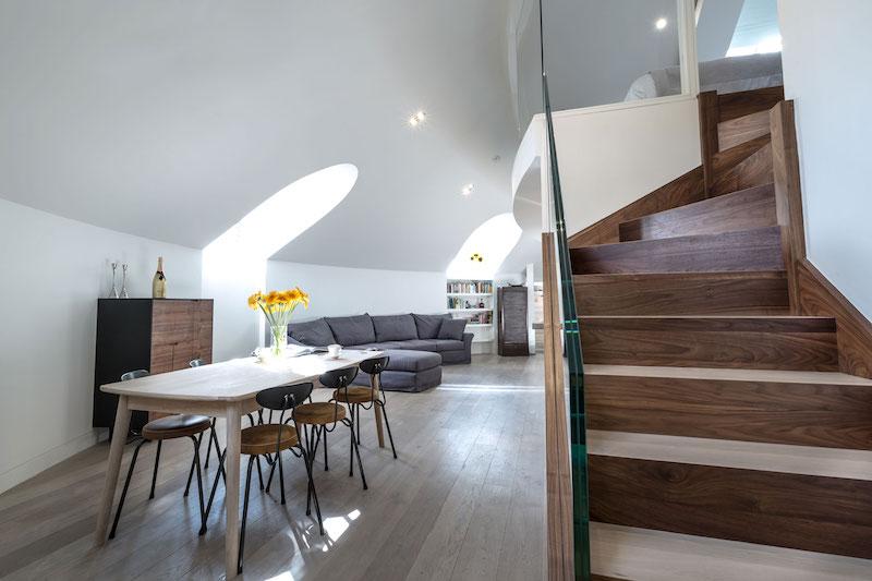 Modern Penthouse Apartment Inside A Converted Chur