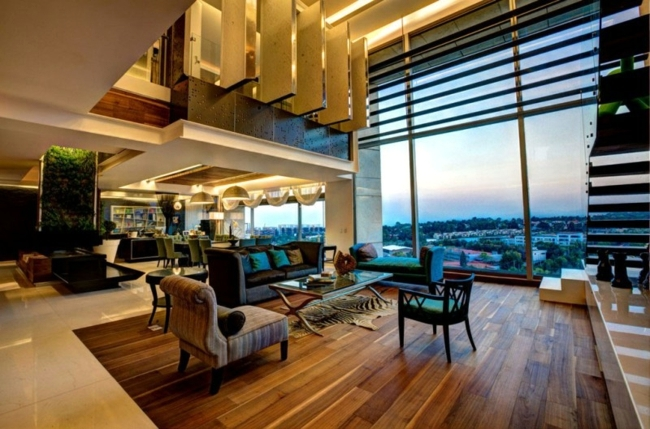 Penthouse apartment with modern furniture – Life of Luxury .