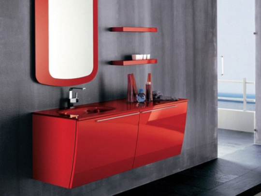 Vibrant Red Bathroom Furnitu