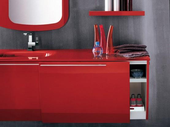 Modern Red Bathroom Furniture by Artesi - DigsDi