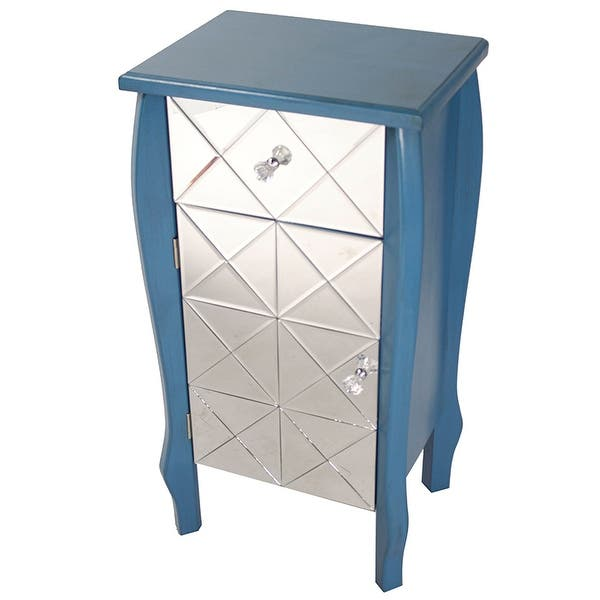 Shop 1-Drawer, 1-Door Mirrored Front Accent Cabinet - Mdf, Wood .