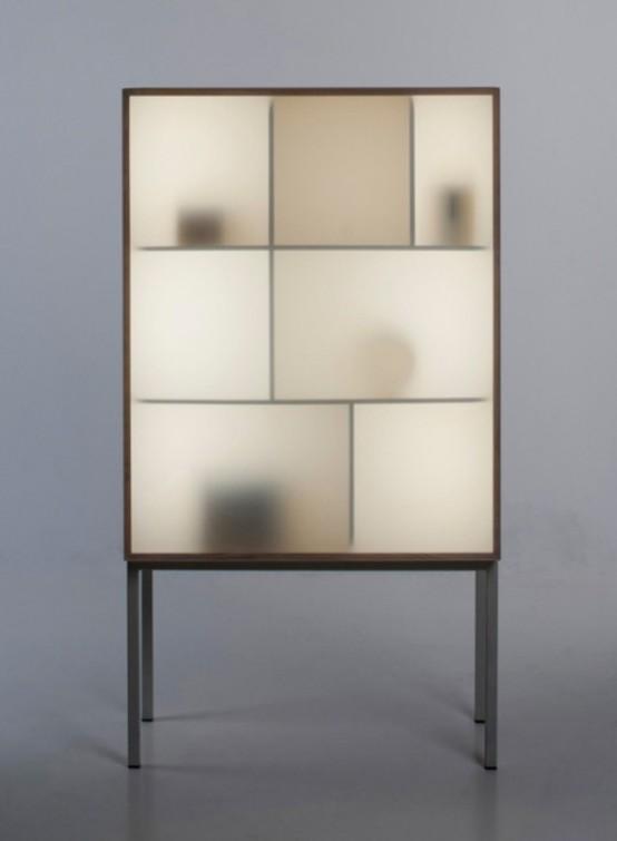 Modern Reinterpretation Of A Traditional Glass Cabinet - DigsDi