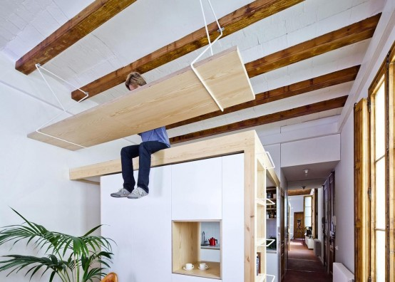 Modern Residence Design With Lots Of Wood And Exposed Beams - DigsDi