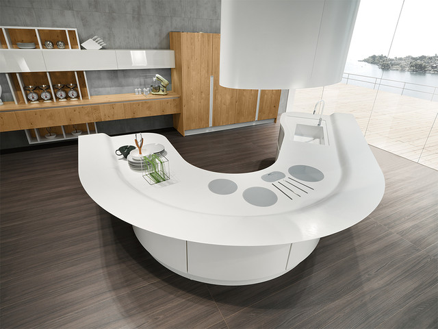 Volare Curved Island Kitchen - Modern - Kitchen - San Diego - by .