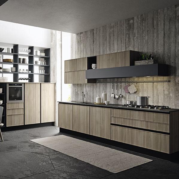 Contemporary kitchen - QUADRO - ARAN Cucine - polymer / island .