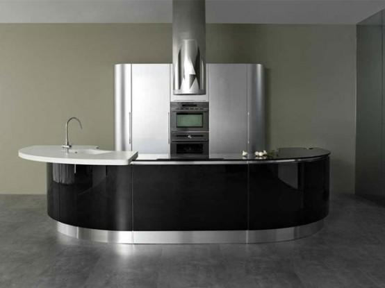 Modern Rounded Kitchen - Volare by Aran Cucine - DigsDi