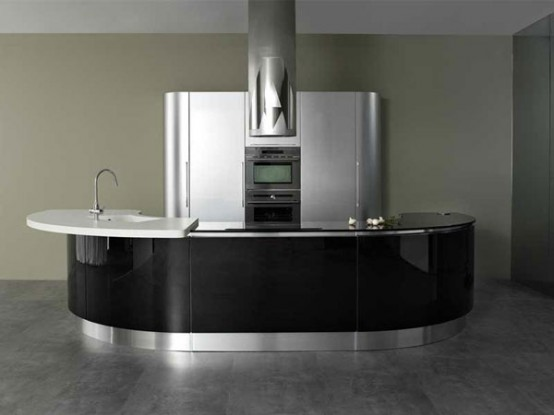 Modern Rounded Kitchen – Volare by Aran Cuci