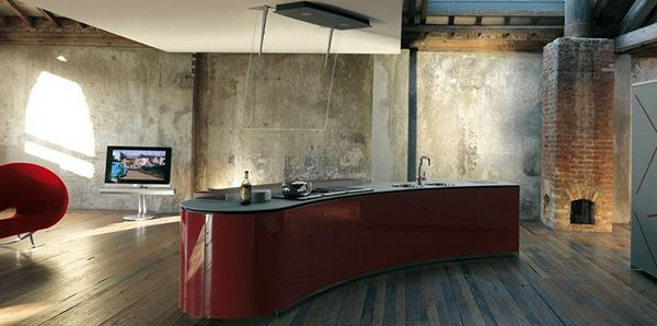 Dramatic Kitchen Interior Design by Alessi - Rustic and Ultra .