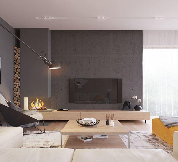 Kolodishchi Interior Design | Modern scandinavian bedroom design .