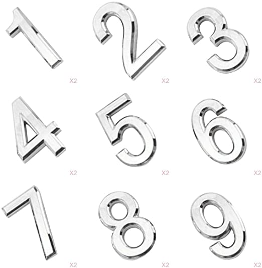 Amazon.com: LOVIVER 18Pcs 1-9 Silver House Numbers for Houses .