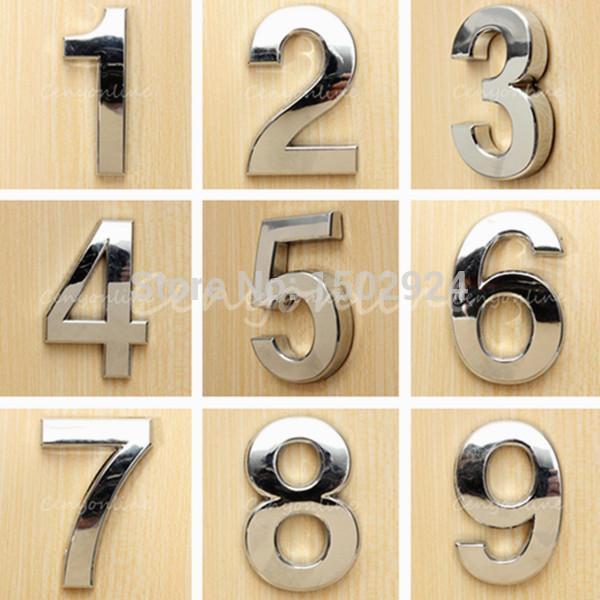 2020 Modern Silver House Hotel Door Address Plaque Number Digits .