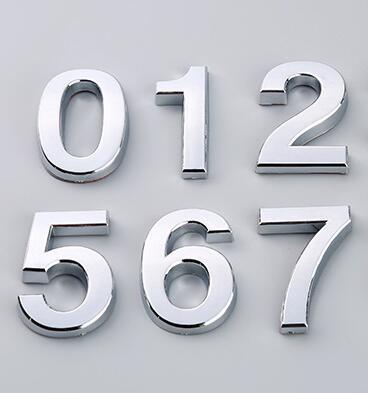 7cm 3color Modern Silver House Door Address Number Digits Numeral .