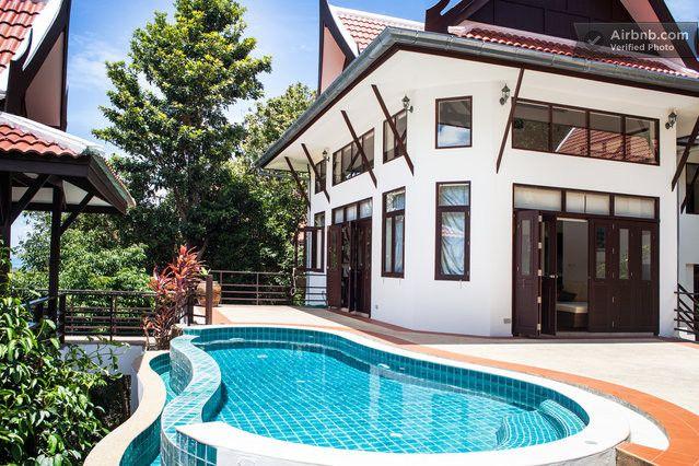 Tropical Modern Thai Villa w/ pool in Ko Samui | Pool houses .