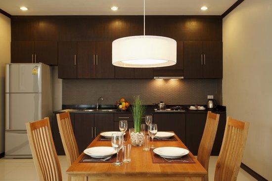 Dinning and kitchen area - Picture of Modern Thai Villa, Rawai .