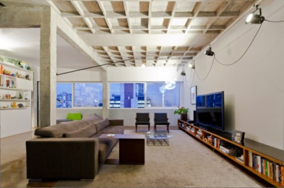 Modern Top Floor Bachelor's Pad With Industrial Touches - DigsDi