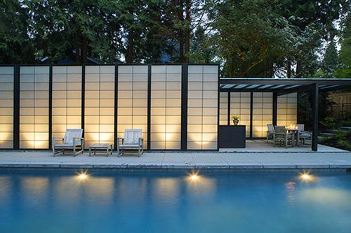 bedroom design blog: Transparent Pool House Desi