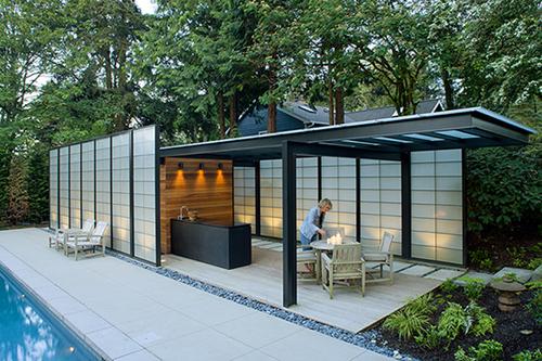 Modern Translucent Pool House Design - DigsDi