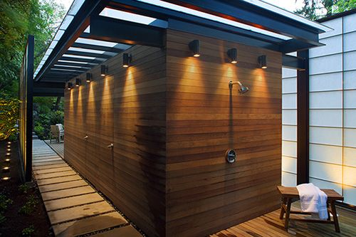 Modern Translucent Pool House Design | Pool house designs, Modern .