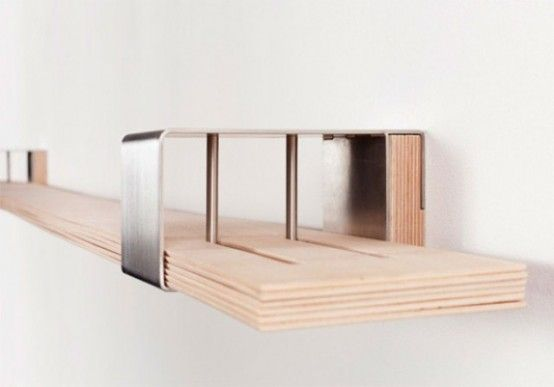 Modern Very Flexible Shelf System For Really Unusual Interiors .