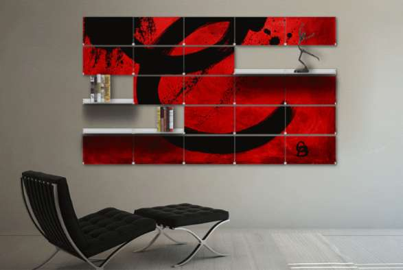 Modular Mural Treatments : Riveli Shelving Syst