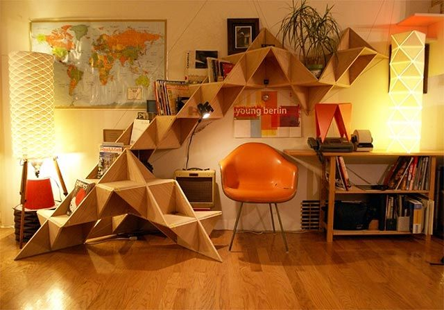 "T.shelf"" [Triangle shelf] is a unique, flexible and screw-less ."