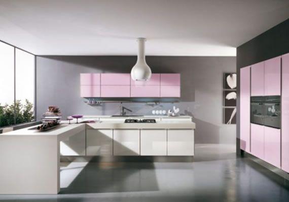 Modern Pink Kitchen Design by Julie Michiels | Interior Design .
