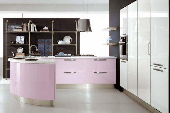 Modern Violet And Pink Kitchen by Cucine Lube | Pink kitchen .