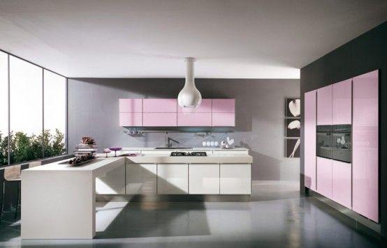 Pink Kitchens | Pink kitchen, Pink kitchen designs, Kitchen decor .