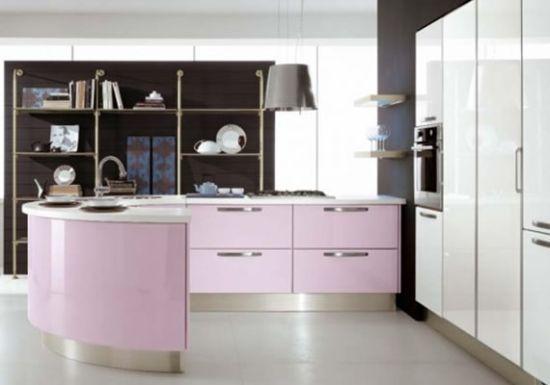 Kitchen | Pink kitchen, Modern kitchen furniture, Pink kitchen desig