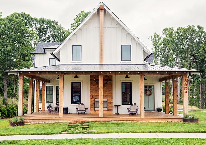 White Modern Farmhouse Home To