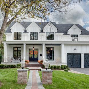 75 Beautiful Farmhouse White Exterior Home Pictures & Ideas .