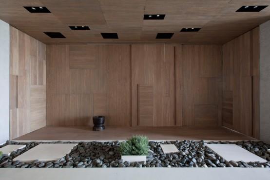 Modern Zen Moscow Apartment With An Indoor Garden - DigsDi