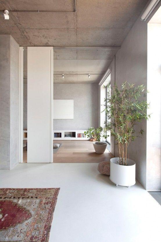 Modern Zen Moscow Apartment With An Indoor Garden (с изображениями .
