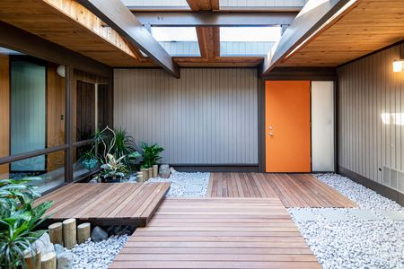 Glass-walled Rummer house open during Restore Oregon's midcentury .