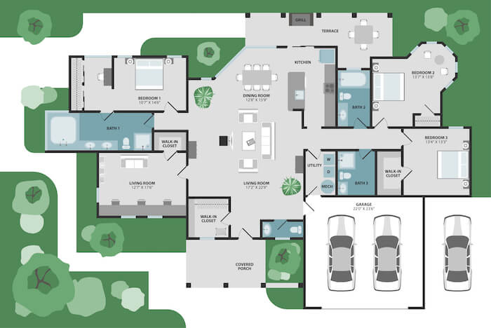40+ Modern house designs - floor plans and small house ide