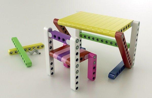 Olla: A Lego-like modular furniture system for ki