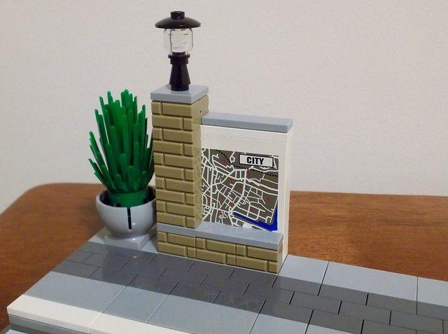 Pavement & Street Furniture | Lego modular, Street furniture, Lego .