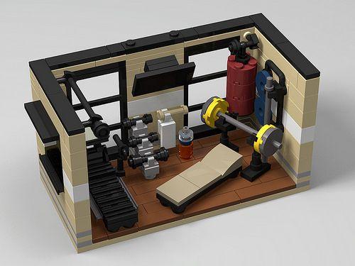Modern gym room | Lego design, Lego furniture, Lego hou