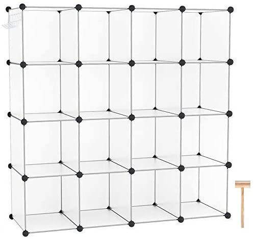 Amazon.com: C&AHOME Cube Storage Organizer, 16-Cube Shelves Units .