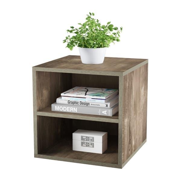 Shop Porch & Den Hartley Contemporary Modular Cube Black End Table .