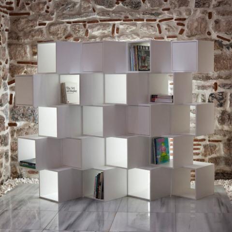 Modular Minimalist Cubic Shelving Unit - DigsDi