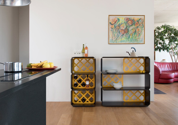 Modular Shelves Made of Folded Sheet Steel - Design Mi