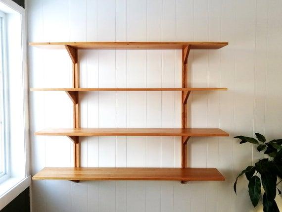 CLARA 4 SHELVES Modular shelving Wall mounted bookshelves | Et