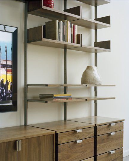 Atlas AS4 Wall Mounted TV Stand, Home Office, and Library Shelving .