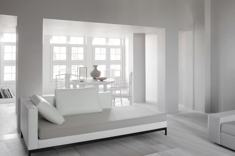 Parisian Apartment Enhances Prestige Through Monochromatic .