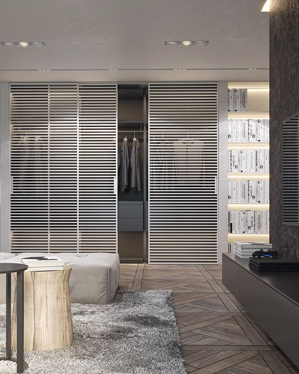 Modern Monochrome Apartment on Behance | Modern house design .