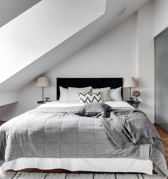 Stockholm Attic Apartment With Modern Interiors | Attic apartment .