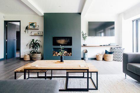Monochrome Industrial Home Tour {Bungalow Renovation} | Home decor .
