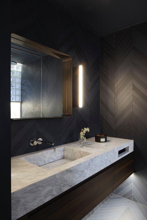 AVENUE ROAD Founder's Moody & Modern Toronto Remodel | Bathroom .